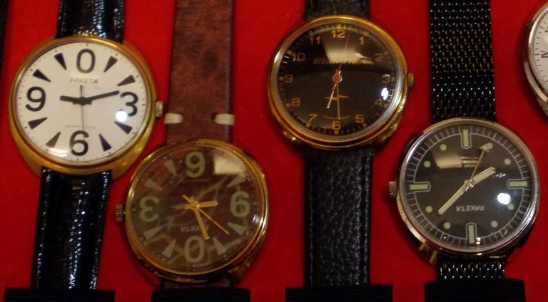 Soviet watch crystal size list