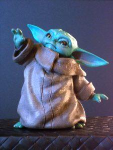 baby Yoda figure repaint