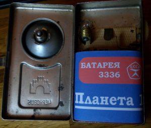 """Planeta 1"" 3R12 battery label replica"